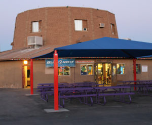 Glendale concession stand and projection turret