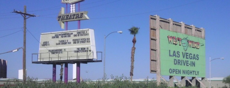 Las Vegas Drive-In marquee and road sign