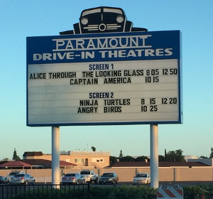 Paramount Drive-In marquee