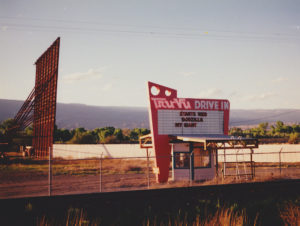Tru Vu Drive-In marquee and screen
