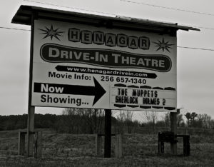 Henagar Drive-In sign
