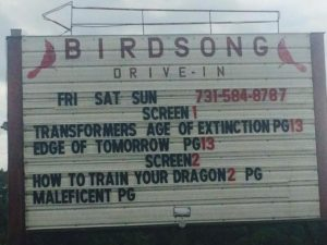Birdsong Drive-In marquee