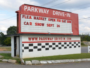 Parkway Drive-In marquee