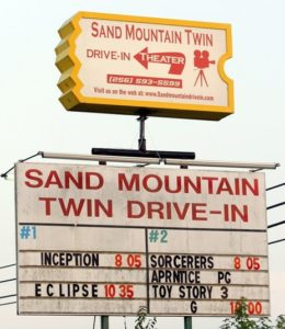 Sand Mountain Drive-In marquee