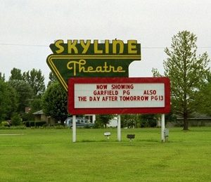 Skyline Drive-In marquee
