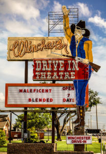 Tall Winchester Drive-In marquee