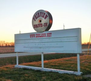 Old Fairview Drive-In marquee