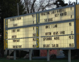 Redwood Drive-In marquee