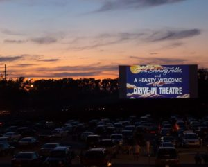 Starlite drive-in at sunset