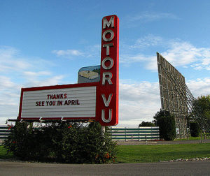 Parma Motor Vu Drive-in marquee and screen