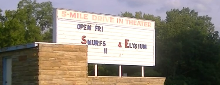 5 Mile Drive-In marquee