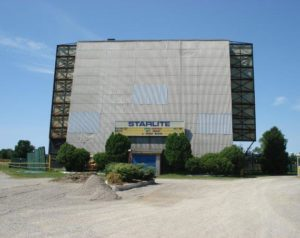 The main screen tower at the Starlite Drive-In