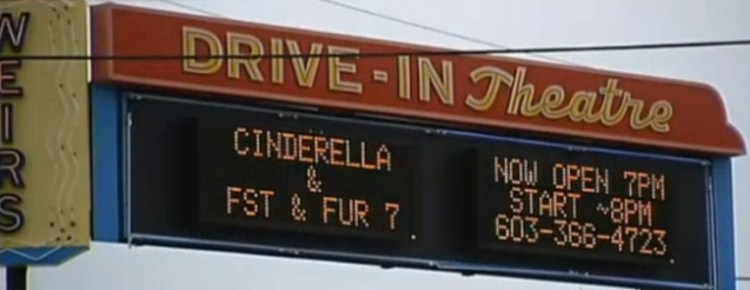 Half of the Weirs Drive-in marquee