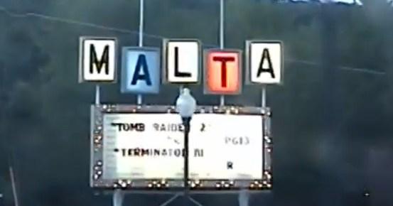 Malta Drive-In marquee