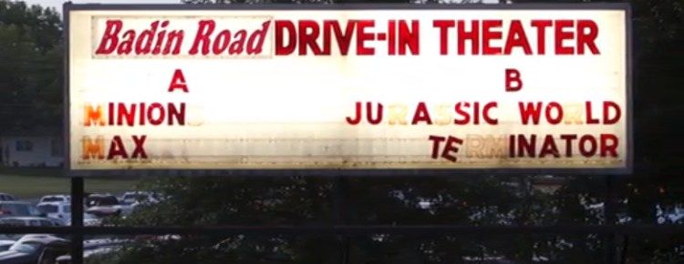 Badin Road Drive-In marquee
