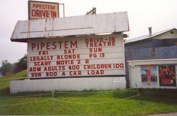 Pipestem drive in theatre
