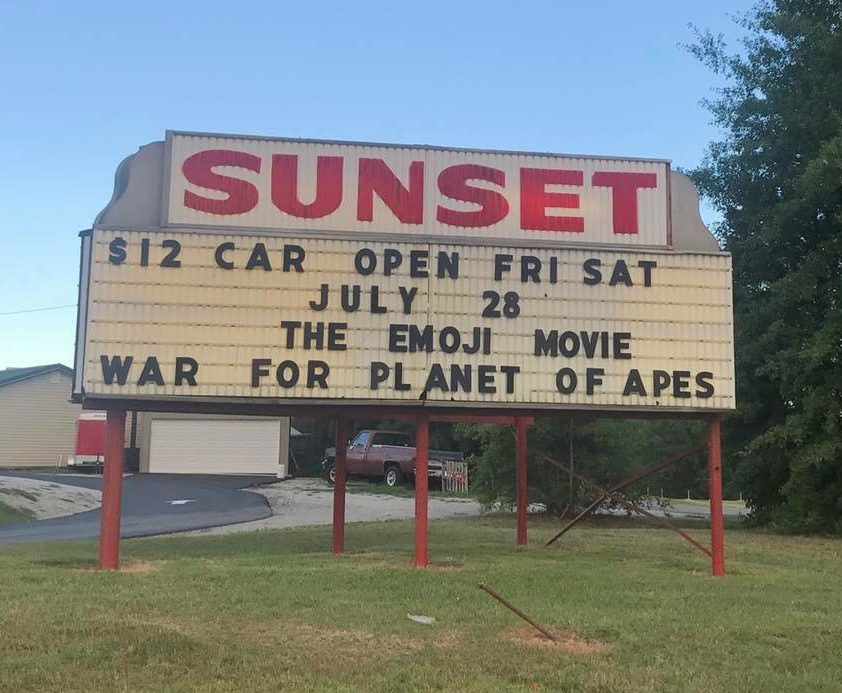 Sunset drive in theatre shelby nc