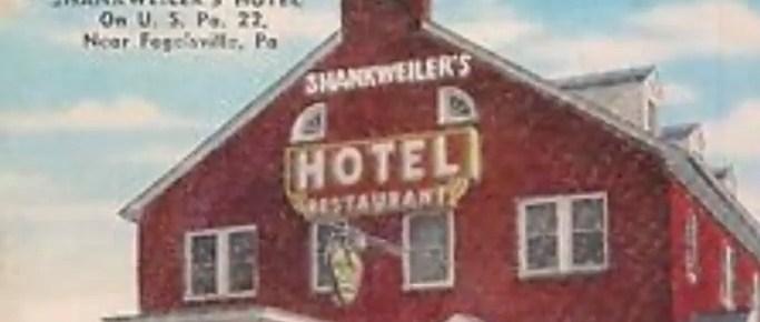 Old postcard of Shankweiler's Hotel