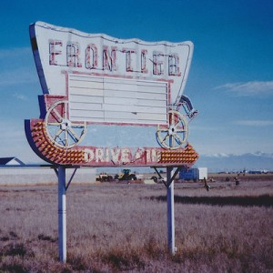 Frontier drive-in marquee