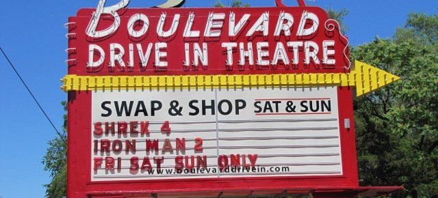 Boulevard Drive-In marquee