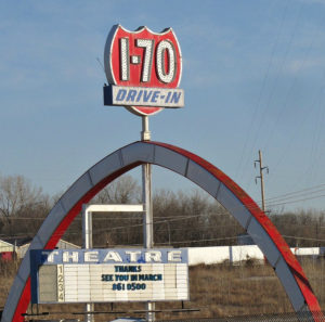 I-70 Drive-In sign and marquee
