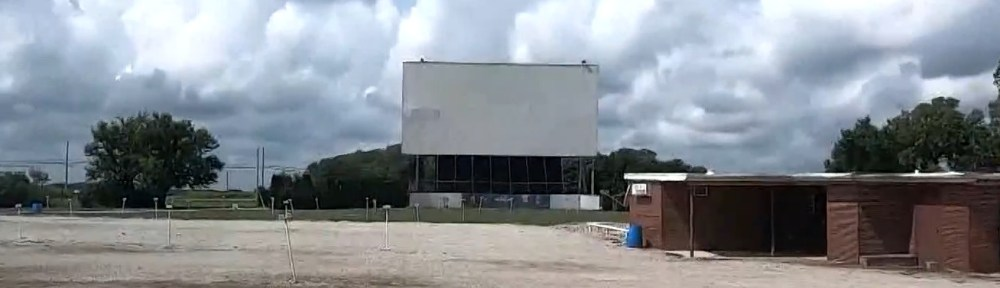 Tiffin Drive-In, main screen in the background