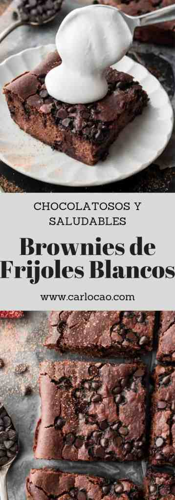 Brownies de frijoles blancos