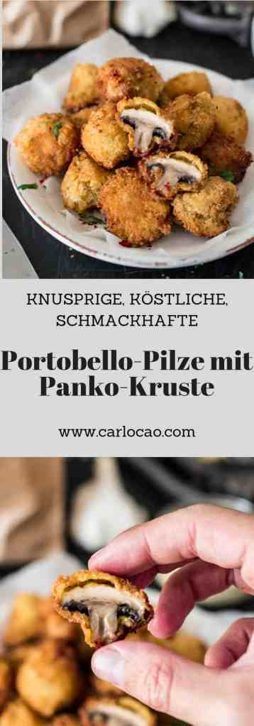 Frittierte Portobello Pilzen mit Panko-Kruste