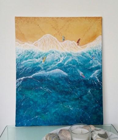 """""""Heat"""" Acrylic on canvas, 50x40 cm. Unframed. £ 130."""