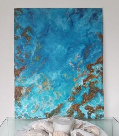 """""""Bliss"""" Acrylic on canvas, 50x40 cm. Unframed. £ 130."""