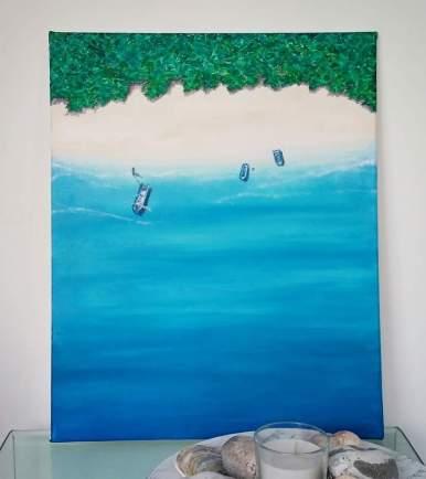 """""""Escape"""" Acrylic on canvas, 50x40 cm. Unframed. £ 100."""