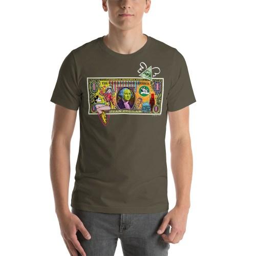 Juan Dollar unisex t-shirt military Green