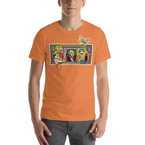Juan Dollar unisex t-shirt orange