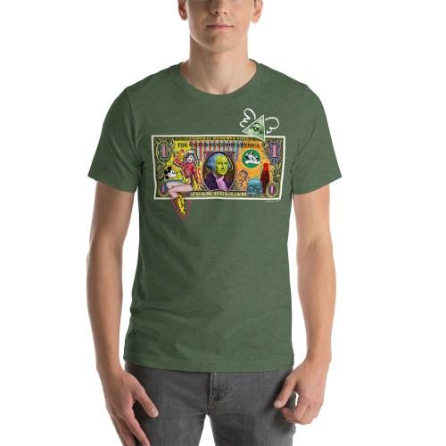 Juan Dollar unisex t-shirt Green