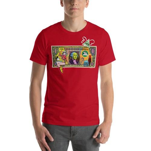 Juan Dollar unisex t-shirt red
