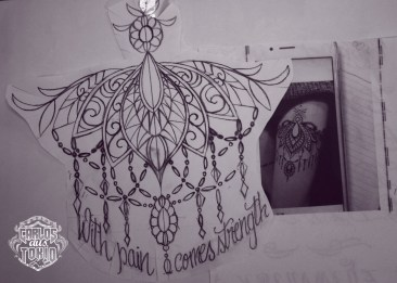 ornamental tattoo female5