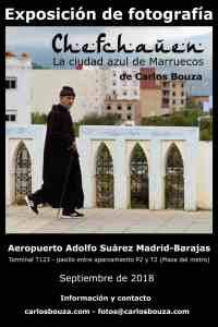 Cartel de la exposición aeropuerto Adolfo Suarez Madrid-Barajas