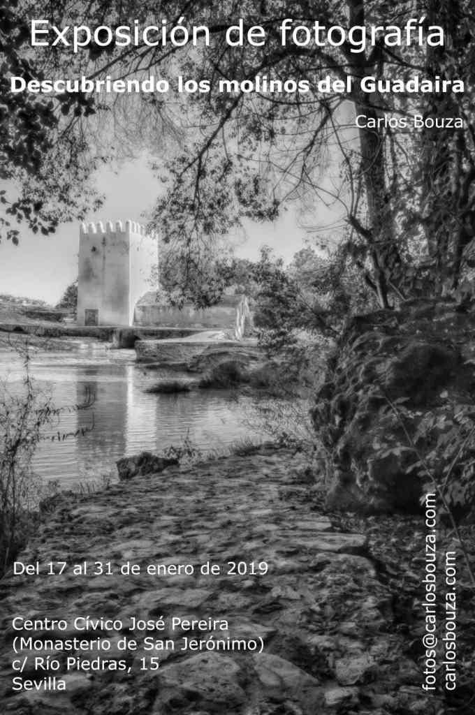 CArtel de la exposición de fotografía Descubriendo los molinosdel Guadaíra