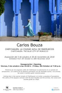 """Cartel exposición """"Chefchauen. La ciudad azul de Marruecos"""" en Eutrostars Toledo."""
