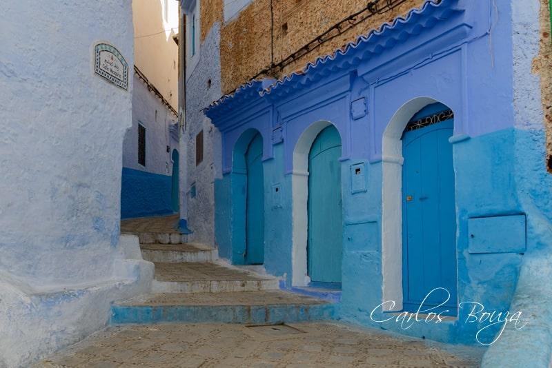Una calle típica de la Medina de Chefchauen