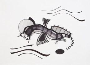 S/T. Tinta, marcador y corrector sobre papel. 40 cm. x 55 cm. 2013