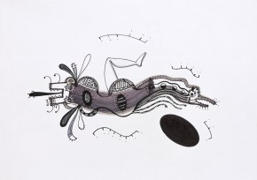S/T. Tinta, marcador y corrector sobre papel. 20,5 cm. x 30 cm. 2013