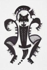 S/T. Tinta, marcador sobre papel. 20 cm. x 30 cm. 2014