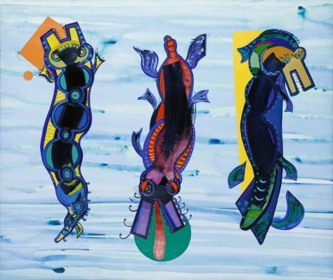 Acrílico y óleo sobre papel 156 x 190 cm