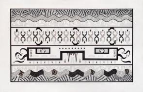 Yarará II. Tinta y marcador sobre papel. 76 x 119 cm. 2016
