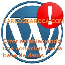 «Error estableciendo una conexión con la base de datos»