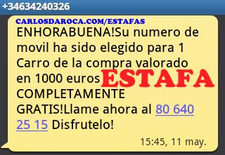 806402515 34634240326 Estafa SMS Móvil