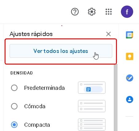 cuenta Gmail, ajustes 2, ver todos.