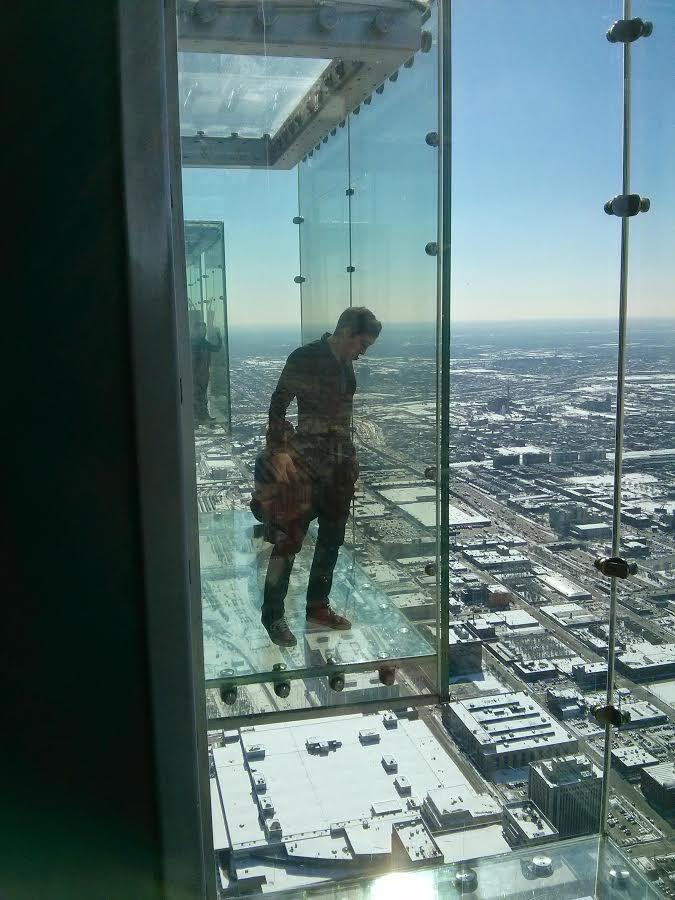 Willis Tower views - glass