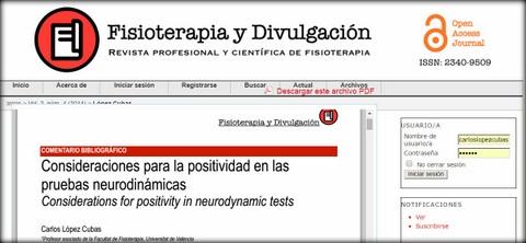 carlos lopez cubas consideraciones positividad tests neurodinamicos osteon
